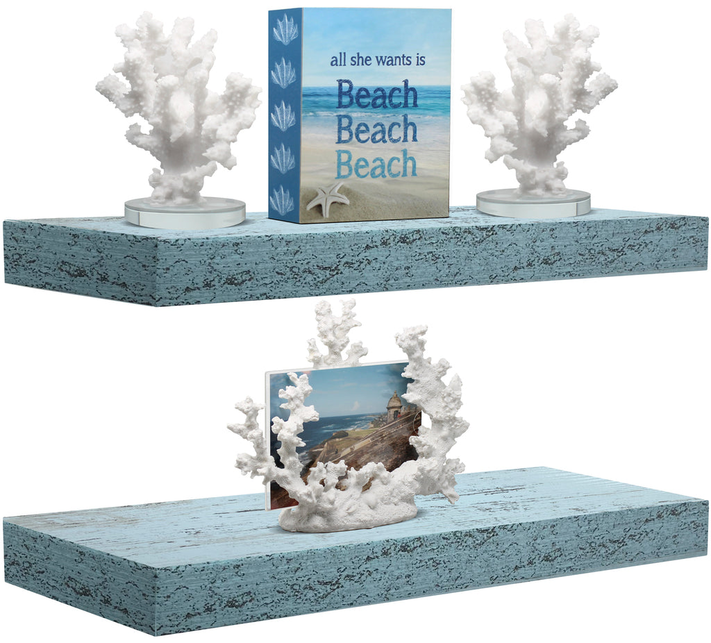Coastal Rectangle Floating Shelves (2-Pack)
