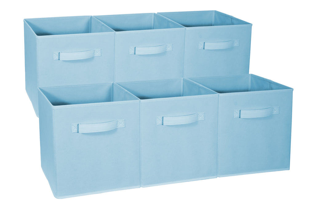Storage Cube Basket Bins - Pastel Colors (6-Pack) - Sorbus Home