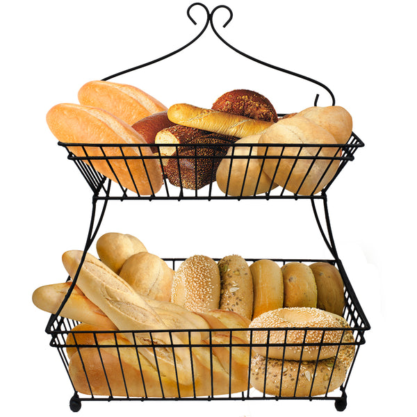 2-Tier Bread Basket Stand - Sorbus Home