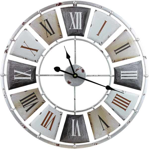 "24"" Vintage Industrial Wall Clock - Sorbus Home"