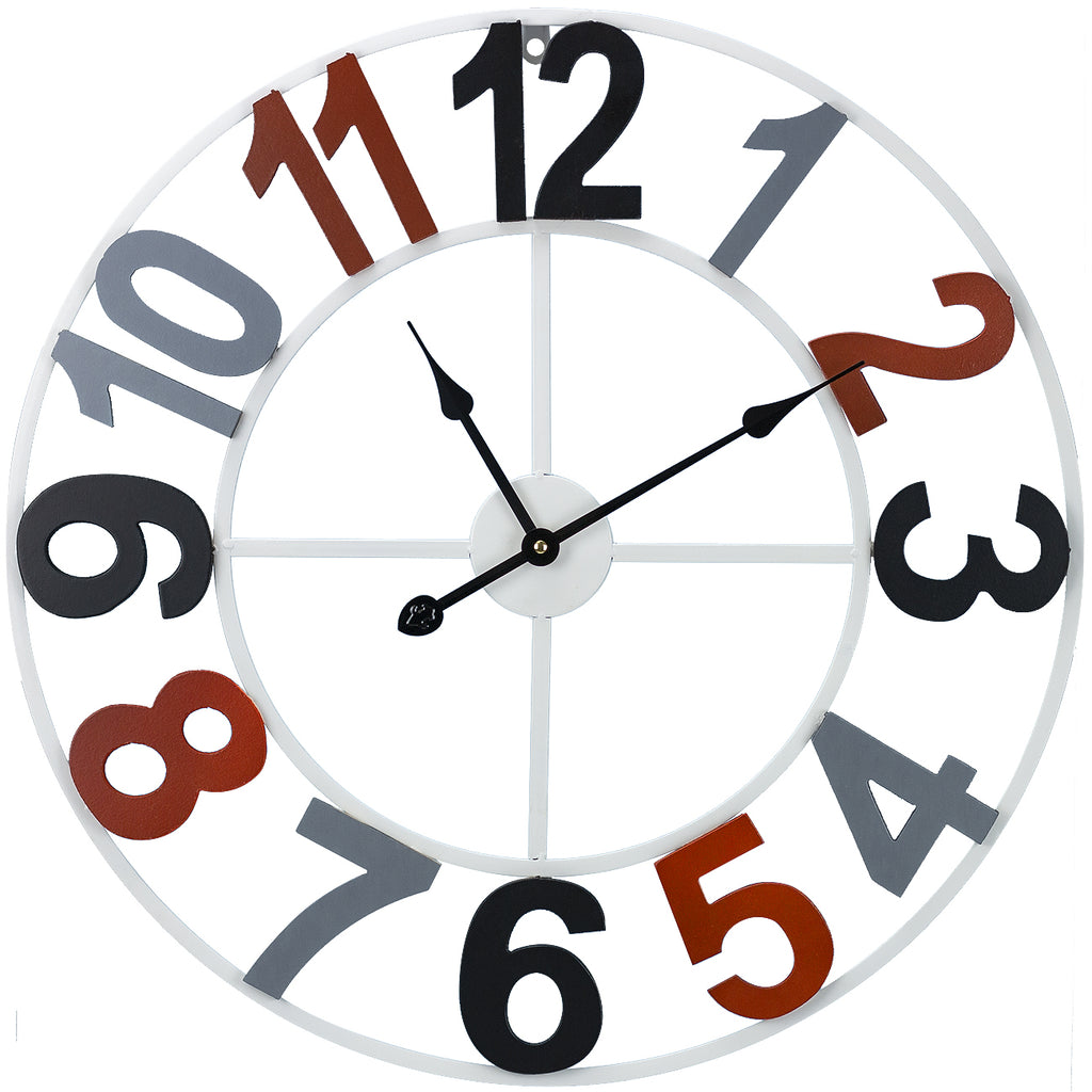 "24"" Wall Clock (Wood Numbers) - Sorbus Home"