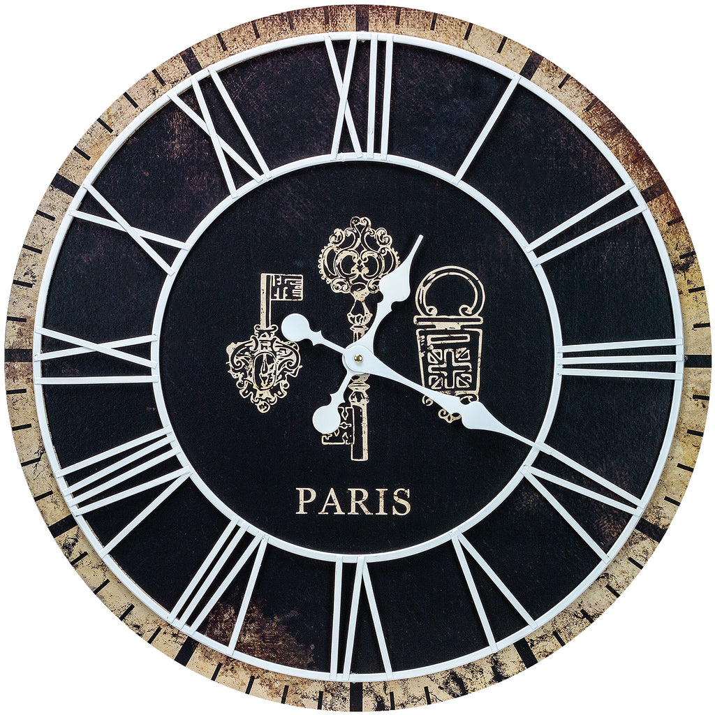 "24"" Paris Oversized Wall Clock - Sorbus Home"