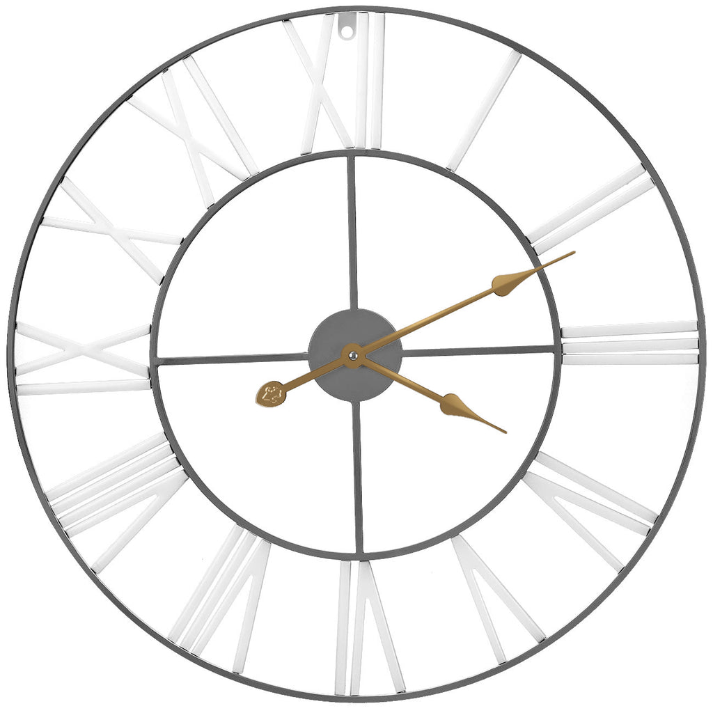 "24"" Wall Clock (White/Gray) - Sorbus Home"