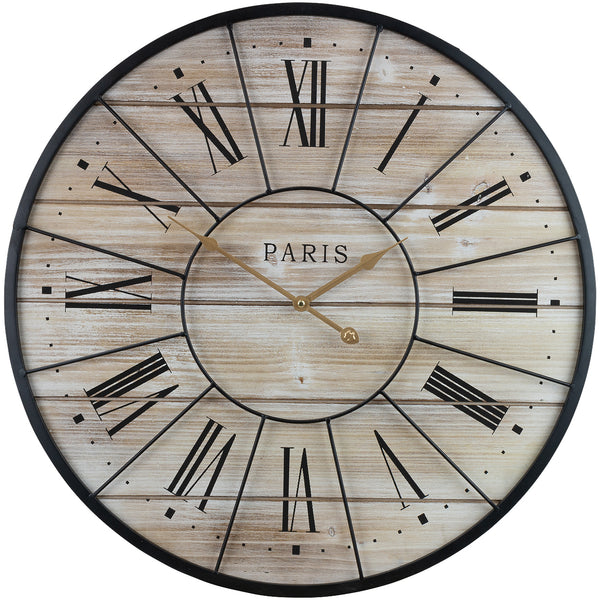 "24"" Paris Wall Clock - Sorbus Home"