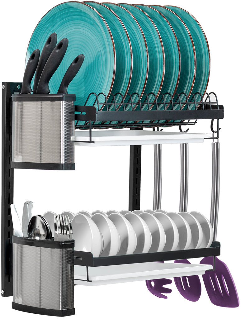 2-Tier Dish Drying Wall Rack - Sorbus Home