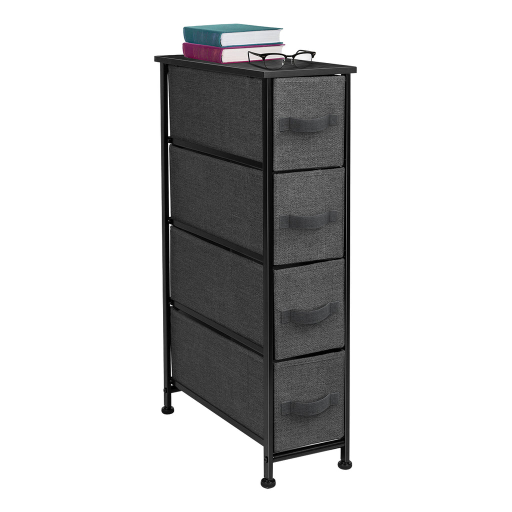 4-Drawer Narrow Storage Tower - Sorbus Home
