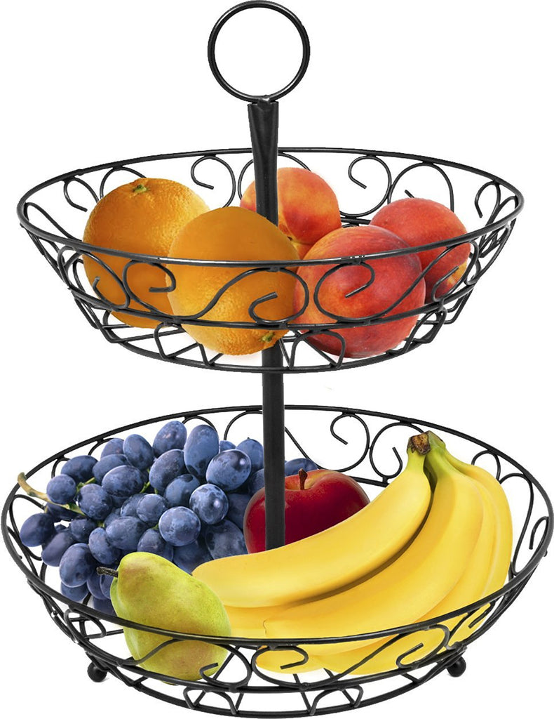 2-Tier Fruit Basket Holder - Sorbus Home