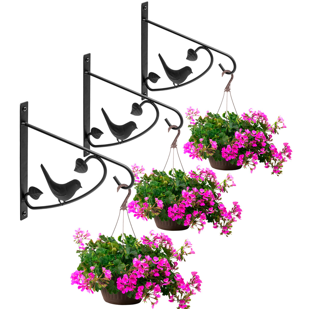 Decorative Plant Bracket Hooks (3-Pack) - Sorbus Home