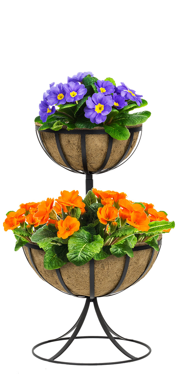 Two-Tier Planter Basket Stand - Sorbus Home