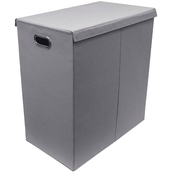 Double Foldable Laundry Hamper with Lid - Sorbus Home