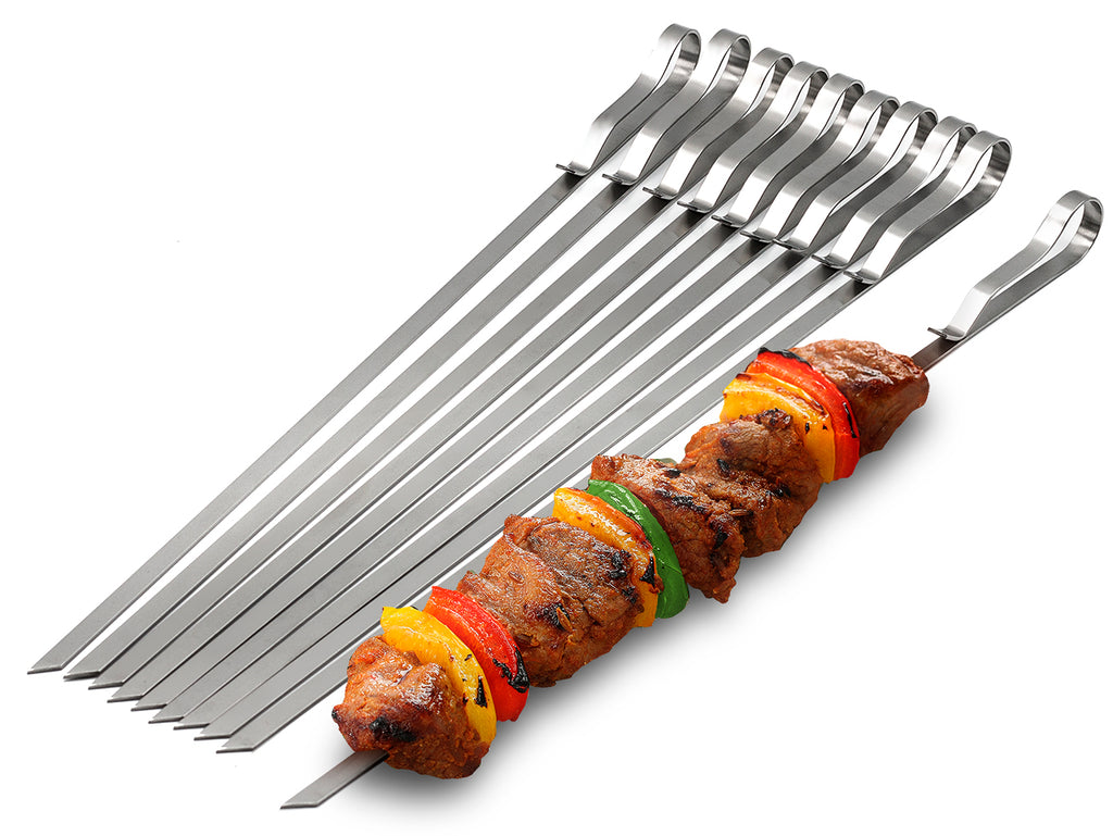 Kabob Barbecue Skewers (10-Pack) - Sorbus Home