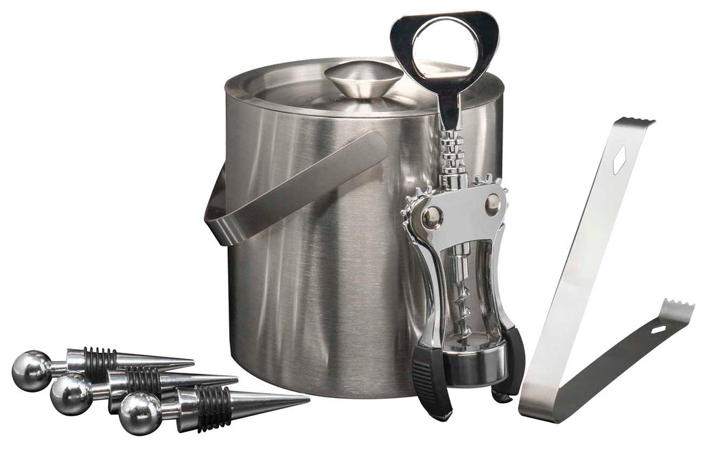 Home Cocktail Bar Set - Stainless Steel (6 Piece) - Sorbus Home