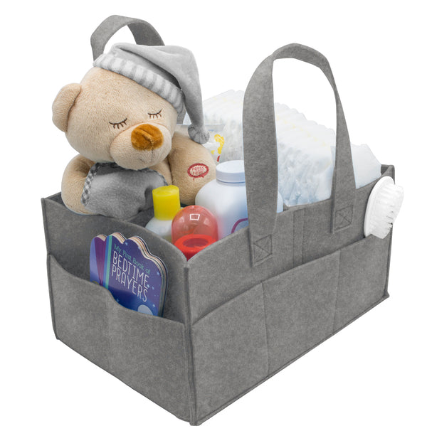 Foldable Felt Nursery Caddy Organizer - Sorbus Home