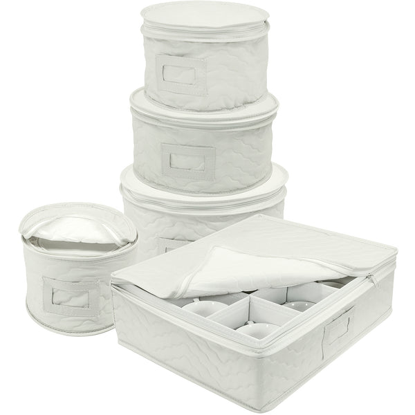 5-Piece Dinnerware Storage Set (Service for 12) - Sorbus Home