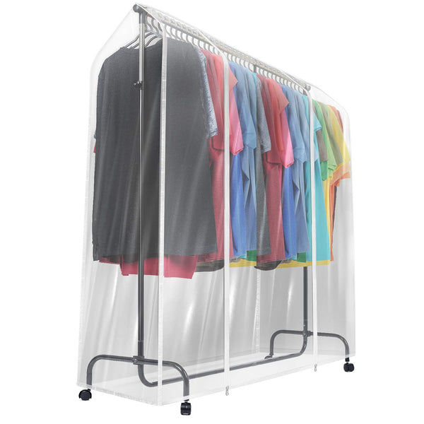 Clear Garment Rack Cover (6 Ft) - Sorbus Home
