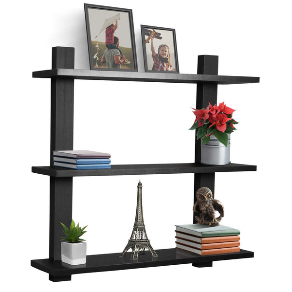 Asymmetric Floating Shelf (3-Tier) - Sorbus Home