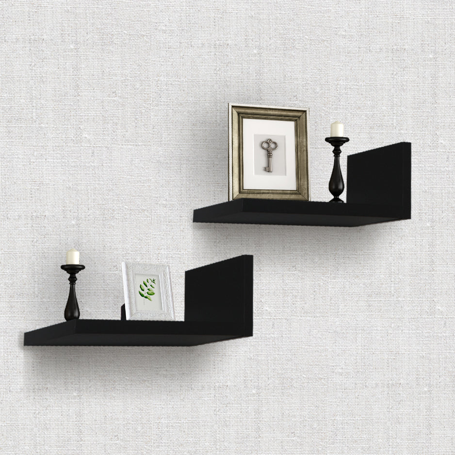 L-Shaped Floating Shelves (2-Pack) - Sorbus Home