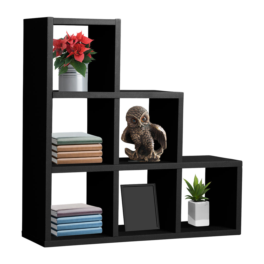 Sorbus Steps Shelves, For Phots, Decorative Items, and Much More (Black) - Sorbus Home