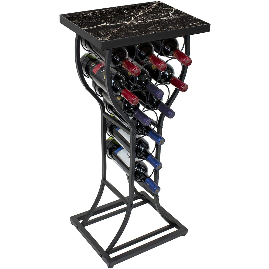 Marble Wine Rack Table - Sorbus Home