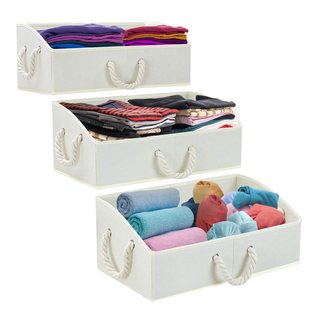 Trapezoid Storage Bins (3-Pack) - Sorbus Home
