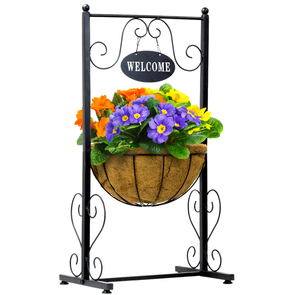 Welcome Planter Basket Stand - Sorbus Home