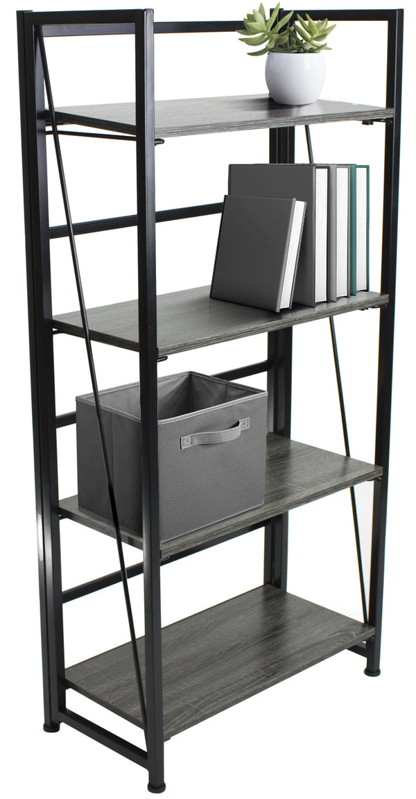 4-Tier Folding Bookshelf - Sorbus Home