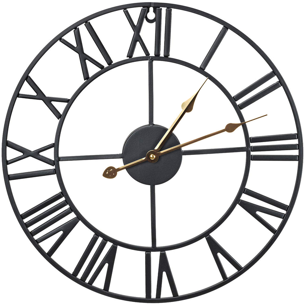 "16"" Wall Clock (Black) - Sorbus Home"