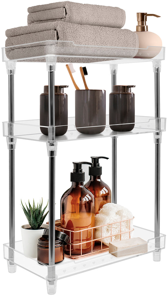 3-Tier Tray Shelf (Clear)