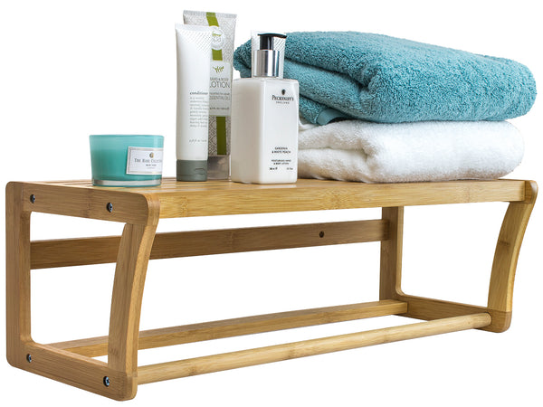 Bamboo Towel Rack - Sorbus Home