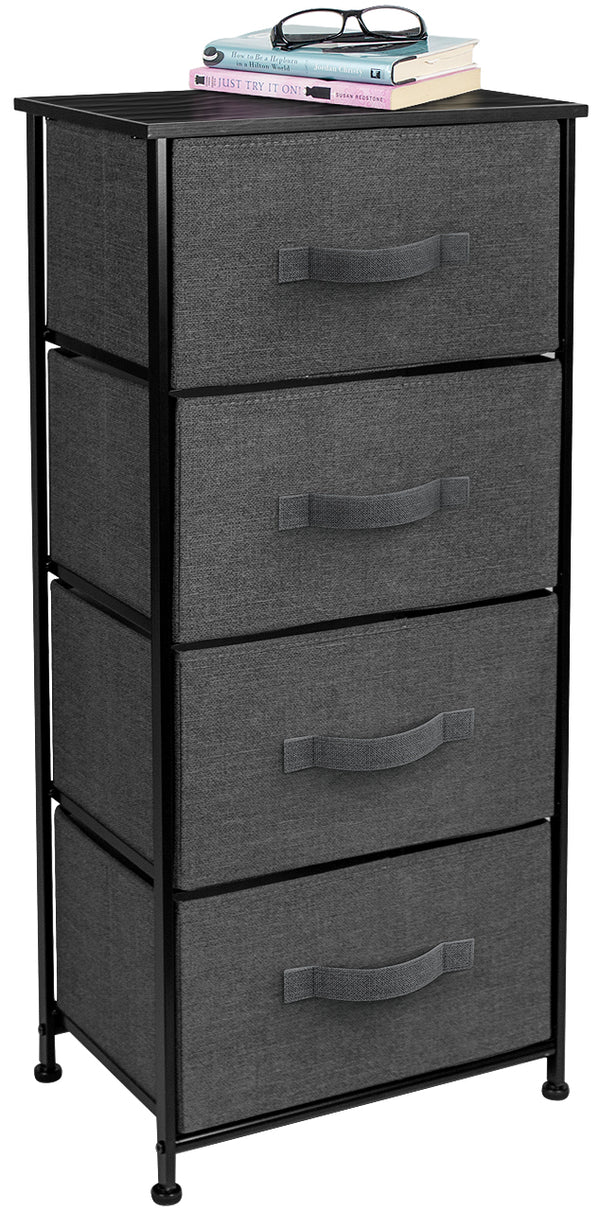 4-Drawer Nightstand Chest - Sorbus Home