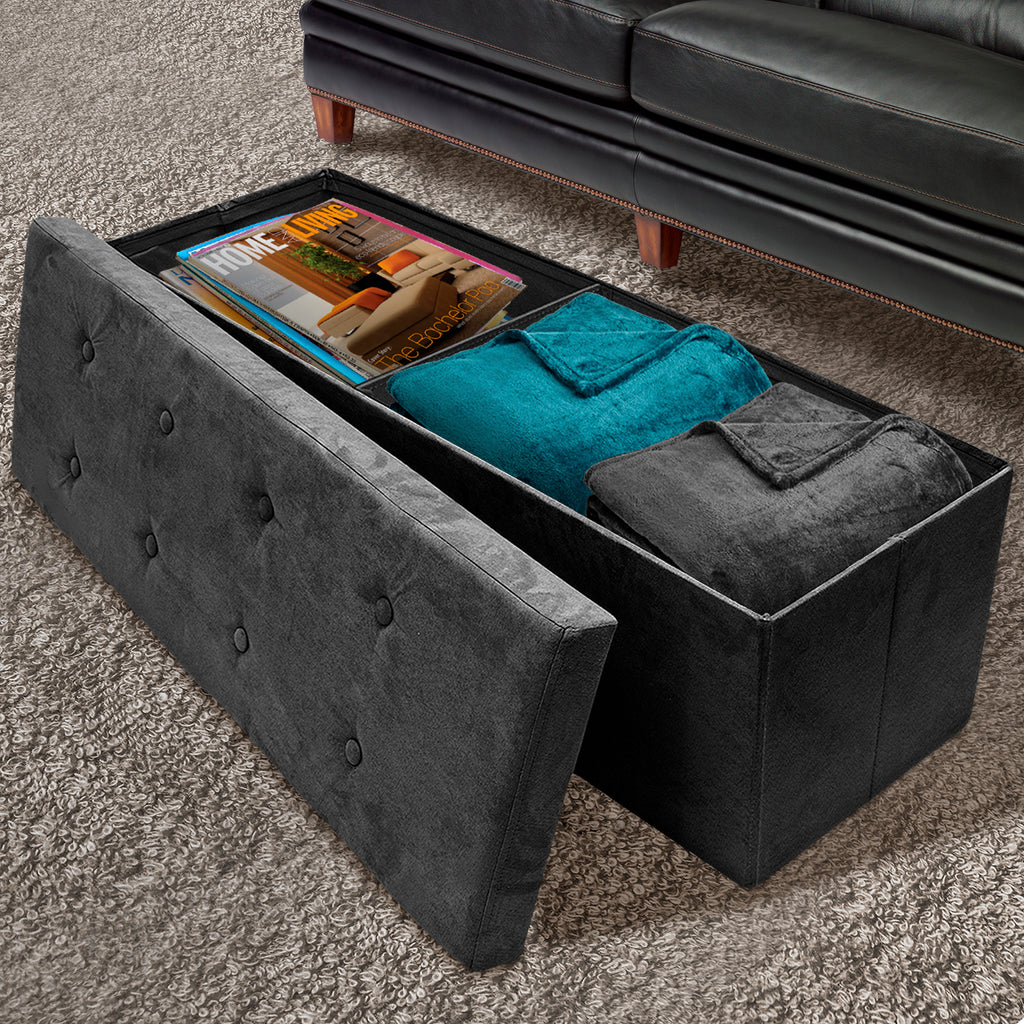 Brilliant Faux Suede Storage Bench Large Sorbus Home Inzonedesignstudio Interior Chair Design Inzonedesignstudiocom