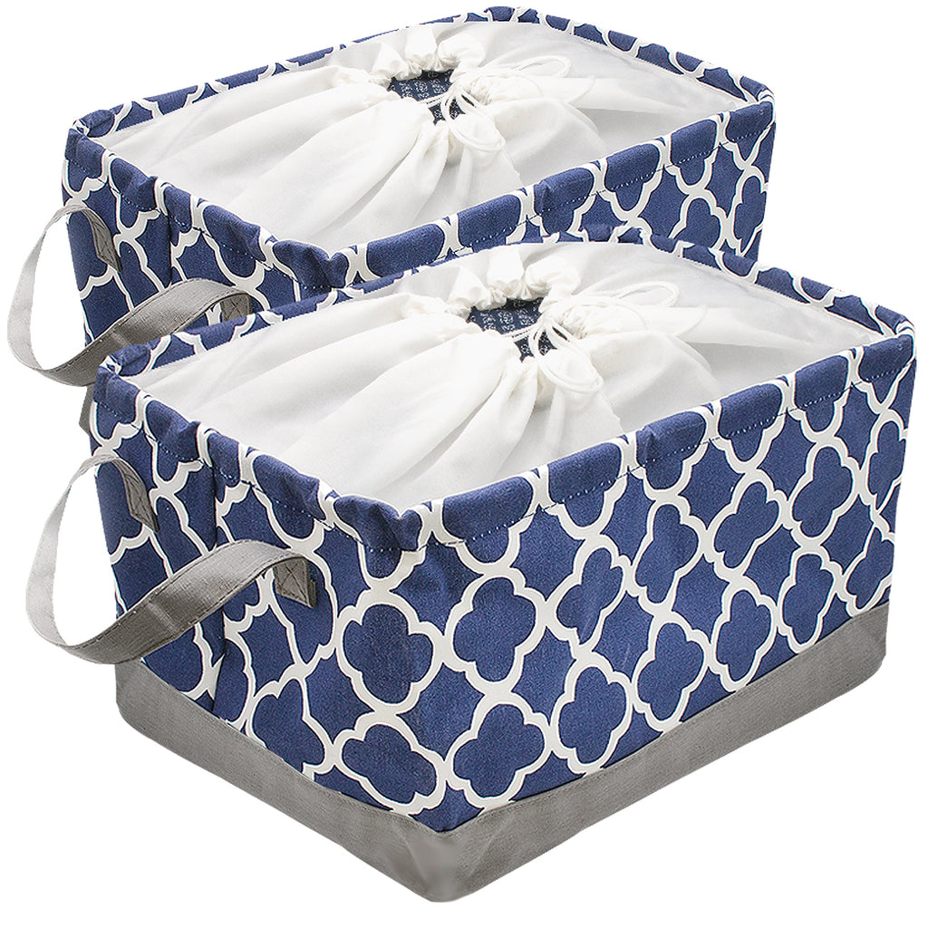 Collapsible Storage Basket Bin Set (2 Pack) - Sorbus Home