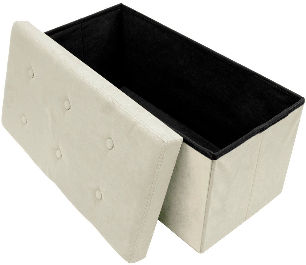 Faux Suede Storage Bench (Medium) - Sorbus Home