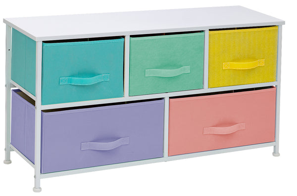 5-Drawer Dresser (Pastel Multi-color) - Sorbus Home