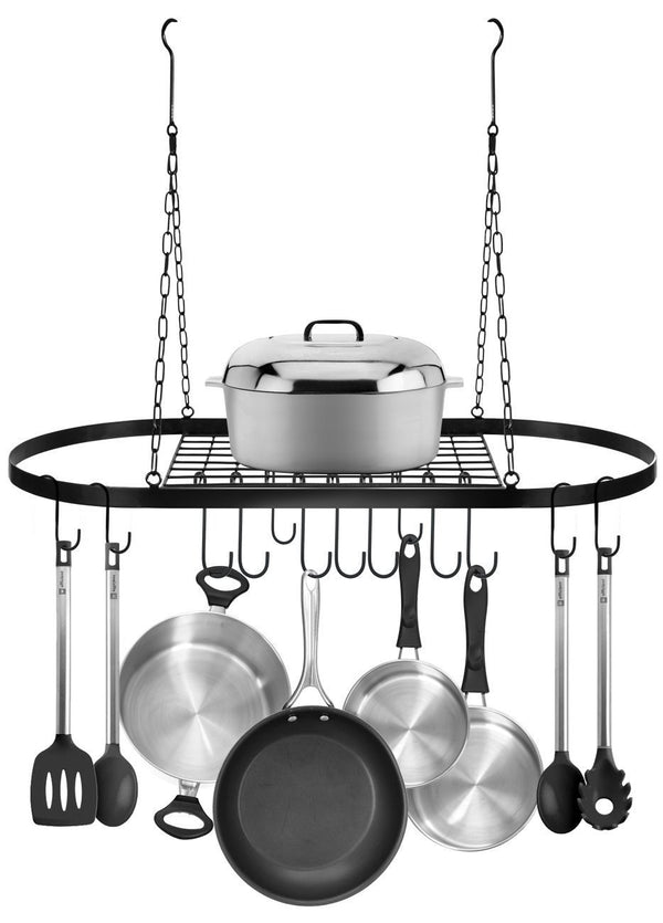 Pot and Pan Rack for Ceiling with Hooks - Sorbus Home