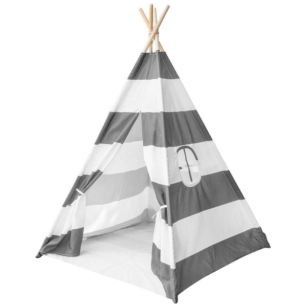 Striped Teepee Tent for Kids - Sorbus Home