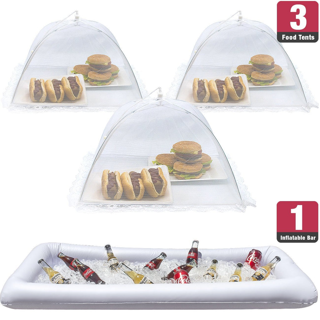 Inflatable Serving Bar and Food Cover Umbrellas (Bundle) - Sorbus Home