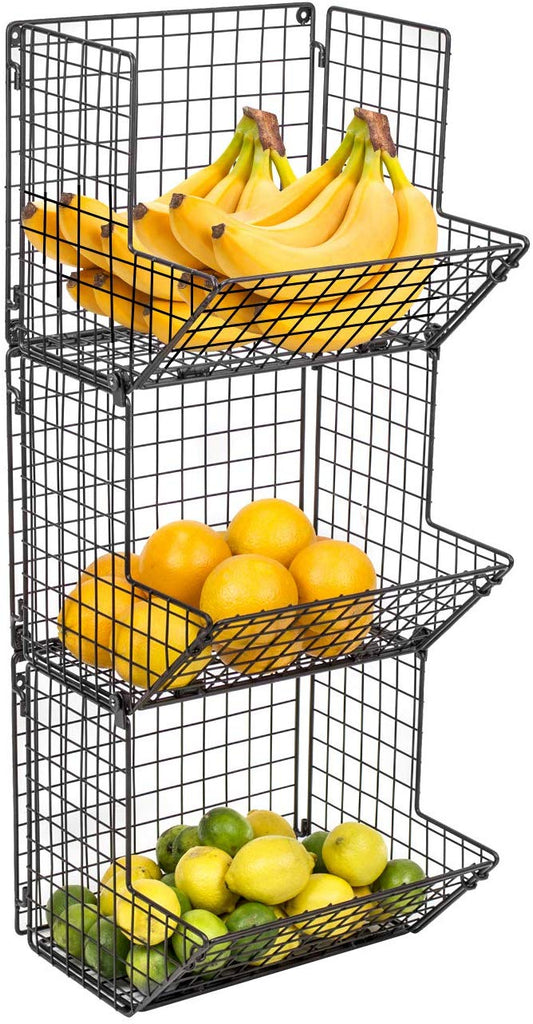 3-Tier Fruit Basket Stand - Sorbus Home
