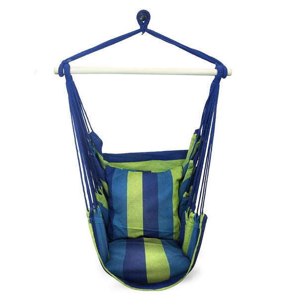 Hanging Stripe Hammock Swing Chair - Sorbus Home