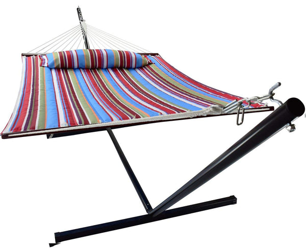 Hammock with Spreader Bars & Frame (Multi-color) - Sorbus Home