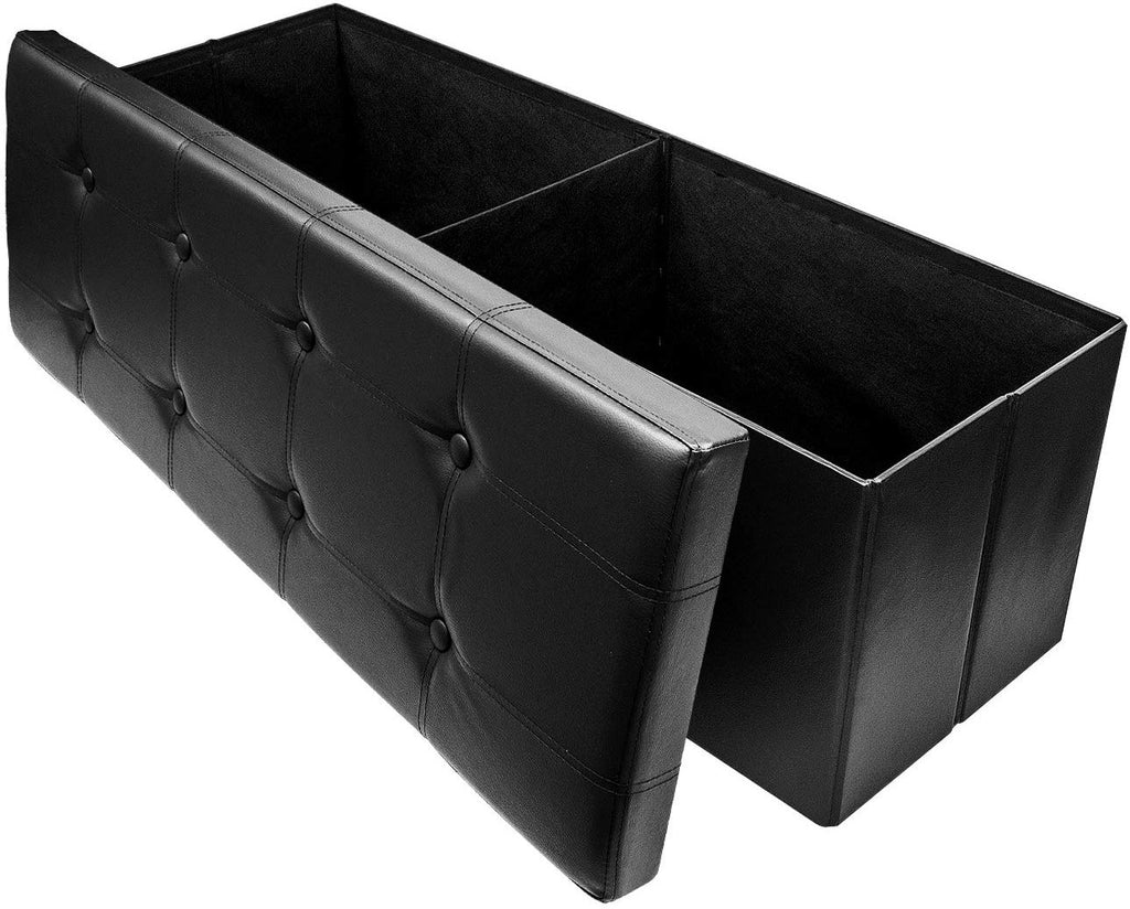Faux Leather Storage Bench (Large) - Sorbus Home