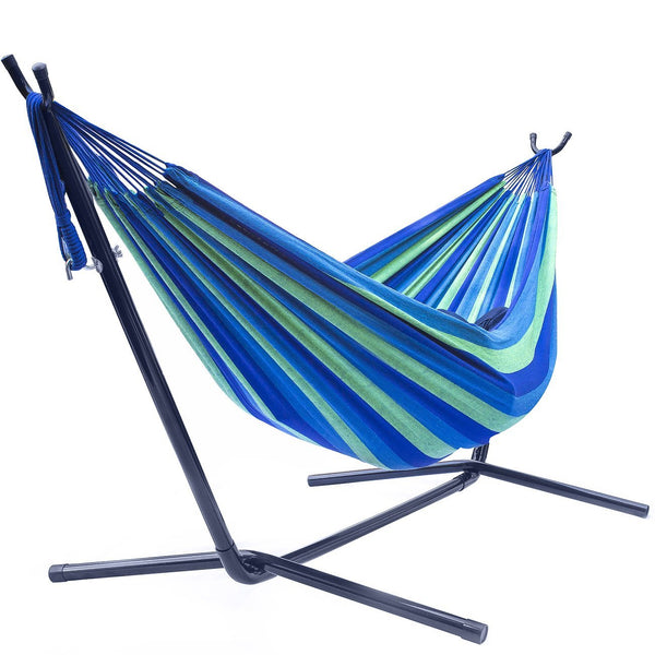 Double Hammock with Steel Stand - Sorbus Home