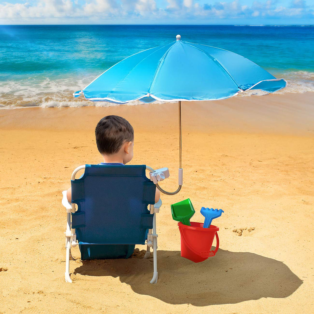 Kids Beach Umbrella Chair Blue Sorbus Home