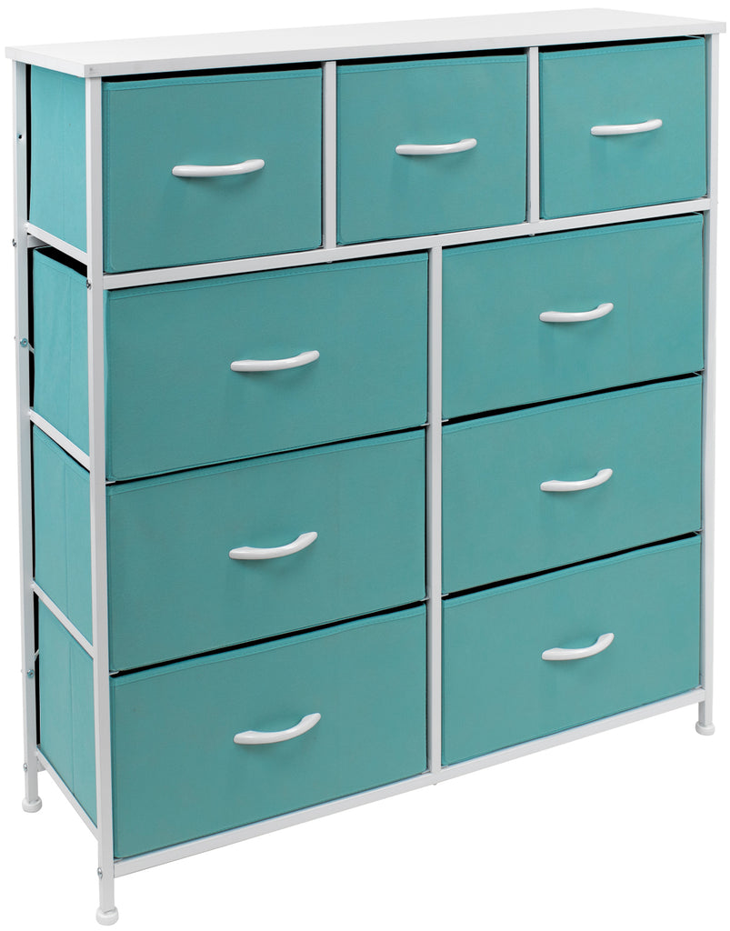 9-Drawer Dresser Chest (Pastel Colors)