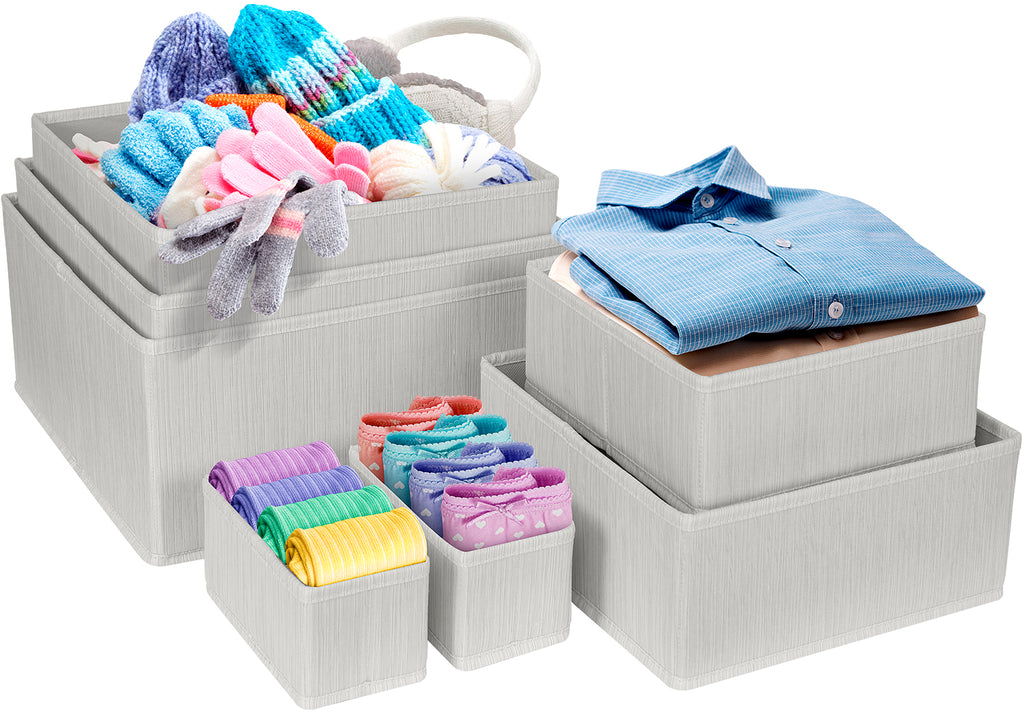 Fabric Basket Bins (7-Piece Set)