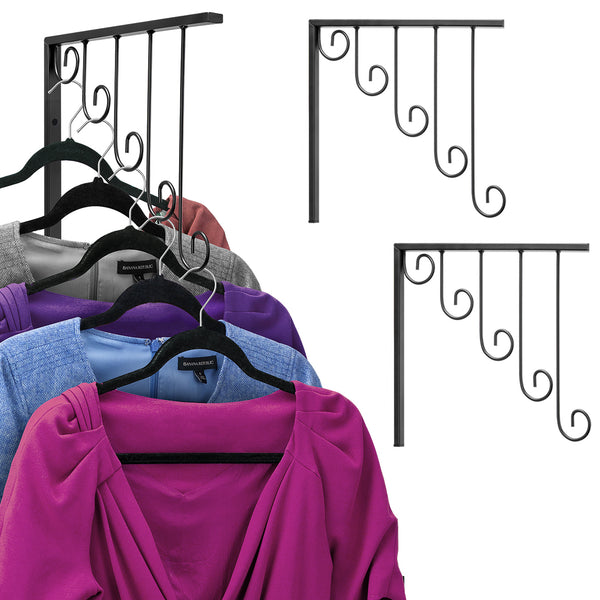 Garment Rack Bracket Hooks (Set of 3) - Sorbus Home
