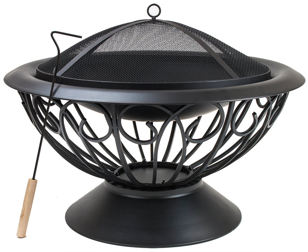 "Fire Pit with Safety Mesh Screen 30"" - Sorbus Home"