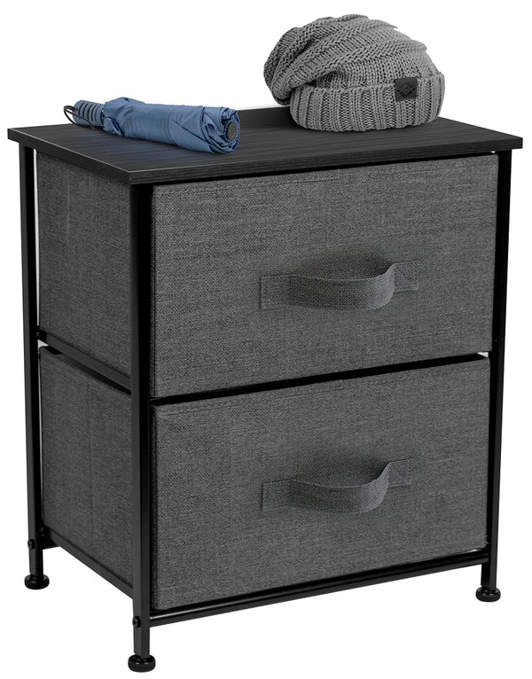 2-Drawer Nightstand Chest - Sorbus Home