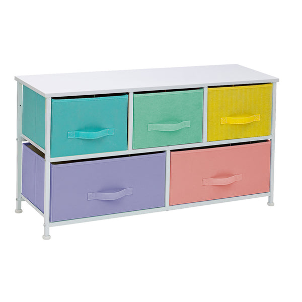 5-Drawer Dresser (Pastel Multi-color)