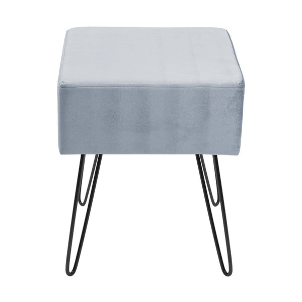 Velvet Footrest Stool (Square)